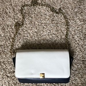 Forever 21 Navy and White Hand Clutch Bag